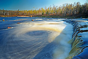 Rainbow Falls where Whiteshell River pours into White Lake<br /> Whiteshell Provincial Park<br /> Manitoba<br /> Canada