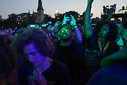 Fans watch A Tribe Called Quest perform at day two of Pitchfork Music Festival in Union Park on July 15, 2017.