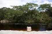 Sao Goncalo do Rio Preto_MG, Brasil...Circuito Estrada Real, na foto Prainha no Parque Estadual do Rio Preto...The circuit Estrada Real, in this photo the Prainha at do Rio Preto State Park...Foto: LEO DRUMOND / NITRO