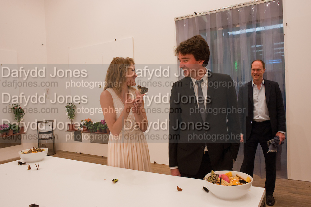 NATALIA VODIANOVA; ANTOINE ARNAUD; HARRY BLAIN, Damien Hirst, Tate Modern: dinner. 2 April 2012.