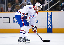 March 4, 2010; San Jose, CA, USA; Montreal Canadiens defenseman Jaroslav Spacek (6) during the first period against the San Jose Sharks at HP Pavilion. San Jose defeated Montreal 3-2. Mandatory Credit: Jason O. Watson / US PRESSWIRE