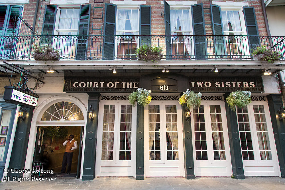 Court of Two Sisters Restaurant in the French Quarter of New Orleans on April 4, 2017