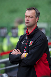 DUBLIN, REPUBLIC OF IRELAND - Friday, May 27, 2011: Wales' physiotherapist Michael Kuijpers during the Carling Nations Cup match against Northern Ireland at the Aviva Stadium (Lansdowne Road). (Photo by David Rawcliffe/Propaganda)