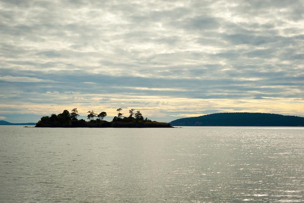 An island near Orcas Island in Washington.