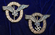 Nazi pilot wings from WWII.  Private collection.