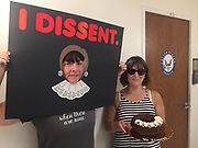 Bangor, Maine. Members of Indivisible MDI protest Susan Collins' vote for Brett Kavanaugh in front of her office in the Federal Building.