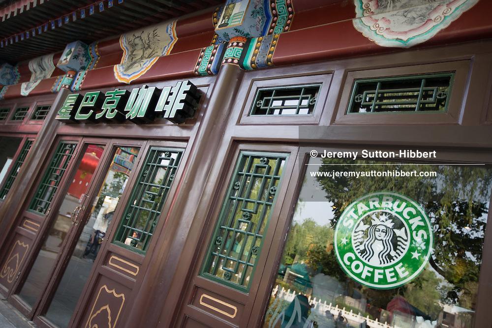 Starbucks at QianHai Lake, in Beijing, China, Monday 28th May 2012.
