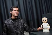 Alexis Meneses, Ph.D Student, Intelligent Robotics Laboratory directed by Professor Hiroshi Ishiguro<br /> <br /> Photographer: Christina Sjögren<br /> Copyright 2018, All Rights Reserved