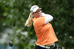 July 14, 2018 - Sylvania, Ohio, United States - Brittany Lincicome of the United States tees off on the third tee during the third round of the Marathon LPGA Classic golf tournament at Highland Meadows Golf Club in Sylvania, Ohio USA, on Saturday, July 14, 2018. (Credit Image: © Jorge Lemus/NurPhoto via ZUMA Press)