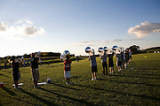 The Oregon Marching Band practices in Deerfield, Wisconsin on June 16, 2008.
