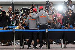 Motorsports / Formula 1: World Championship 2010, GP of Korea, 02 Lewis Hamilton (GBR, Vodafone McLaren Mercedes), 01 Jenson Button (GBR, Vodafone McLaren Mercedes),