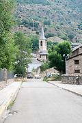 Church, Esterri d'Aneu, Pyrenees mountains, Catalonia, Spain.