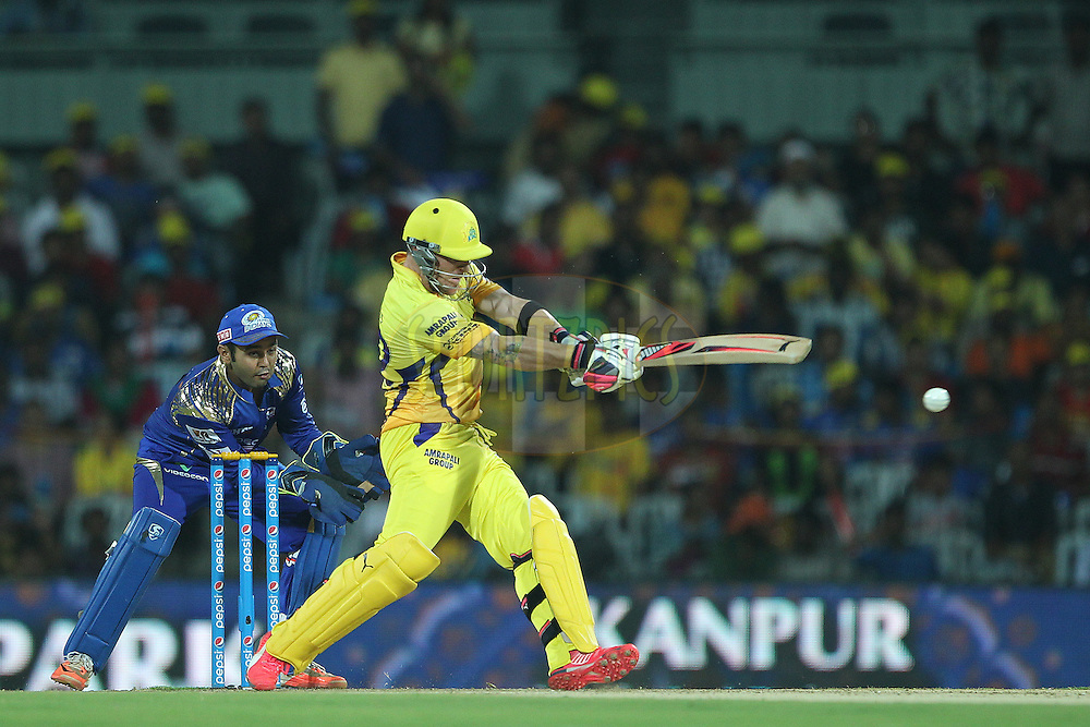 Brendon McCullum of the Chennai Superkings  during match 43 of the Pepsi IPL 2015 (Indian Premier League) between The Chennai Superkings and The Mumbai Indians held at the M. A. Chidambaram Stadium, Chennai Stadium in Chennai, India on the 8th May April 2015.<br /> <br /> Photo by:  Ron Gaunt / SPORTZPICS / IPL