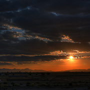 View of the sunset from Veterans Park in Chandler, AZ