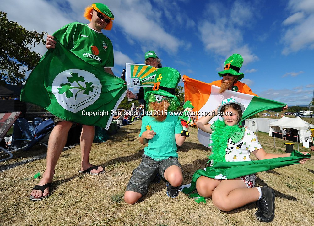 Fans during the 2015 ICC Cricket World Cup match between West Indies and Ireland. Saxton Oval, Nelson, New Zealand. Monday 16 February 2015. Copyright Photo: Chris Symes / www.photosport.co.nz