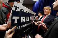 Republican presidential candidate Donald Trump greets supporters Wednesday, Jan. 20, 2016, at a campaign stop in Norwalk.