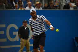 June 24, 2017 - London, United Kingdom - Feliciano Lopez of Spain plays in the semi final of AEGON Championships at Queen's Club, London, on June 24, 2017. (Credit Image: © Alberto Pezzali/NurPhoto via ZUMA Press)