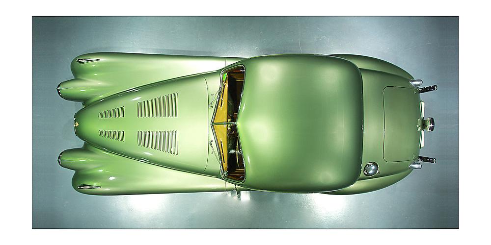 Jaguar XK 120  Coupe year 1957  green