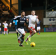 Dundee&rsquo;s Kane Hemmings races away from Falkirk&rsquo;s Will Vaulks  - Dundee v Falkirk, William Hill Scottish Cup Fourth Round at Dens Park <br /> <br />  - &copy; David Young - www.davidyoungphoto.co.uk - email: davidyoungphoto@gmail.com