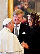 Rome, 22-06-2017 <br /> <br /> State visit from King Willem-Alexander and<br /> Queen M&aacute;xima to The Republic of Italy and The Holy See in Vatican City.<br /> <br /> Audience with Pope Francis<br /> <br /> <br /> <br /> COPYRIGHT: ROYALPORTRAITS EUROPE/ BERNARD RUEBSAMEN
