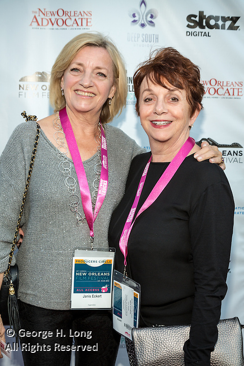 Janis Eckert and guest on the red carpet during opening night of the 25th Anniversary New Orleans Film Festival; Opening night film is 'Black and White' directed by Mike Binder