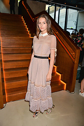 Ella Hunt at the Warner Music Group and British GQ Summer Party in partnership with Quintessentially held at Nobu Shoreditch Willow Street, London England. 5 July 2017.