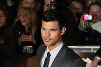 Taylor Lautner The Twilight Saga: Breaking Dawn Part 1 UK Premiere, Westfield Startford City, London, UK. 16 November 2011. Contact rich@pictured.com +44 07941 079620 (Picture by Richard Goldschmidt)
