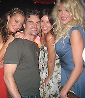 **EXCLUSIVE**.DJ Sky Nellor, NASCAR Driver Jeff Gordon with pregnant  wife Ingrid Vandebosch & Victoria Silvstedt.Jessica Rosenblum Events Presents Jeff Gordon's Party.Suite Night Club.Miami Beach, FL, USA.Friday, February 02, 2007.Photo By Celebrityvibe.com.To license this image please call (212) 410 5354 ; or.Email: celebrityvibe@gmail.com ;.Website: www.celebrityvibe.com