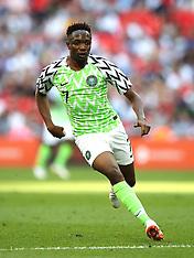 England v Nigeria 12 June 2018