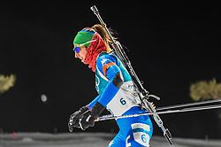 February 12, 2018 - Pyeongchang, Gangwon, South Korea - Lisa Vittozzi ofItaly competing at Women's 10km Pursuit, Biathlon, at olympics at Alpensia biathlon stadium, Pyeongchang, South Korea. on February 12, 2018. (Credit Image: © Ulrik Pedersen/NurPhoto via ZUMA Press)