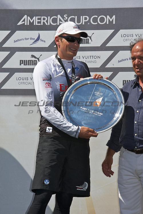 AC World Series,Cascais,Portugal.Fleet racing final , winner ENTZ,second Artemis,third oracle Racing 4