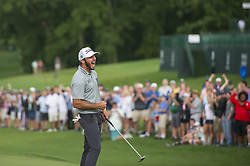 May 5, 2019 - Charlotte, North Carolina, United States of America - Max Homa celebrates winning the 2019 Wells Fargo Championship at Quail Hollow Club on May 05, 2019 in Charlotte, North Carolina. (Credit Image: © Spencer Lee/ZUMA Wire)