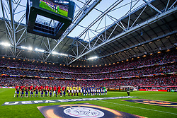 24-05-2017 SWE: Final Europa League AFC Ajax - Manchester United, Stockholm<br /> Finale Europa League tussen Ajax en Manchester United in het Friends Arena te Stockholm / Line up teams Ajax en Manchester United