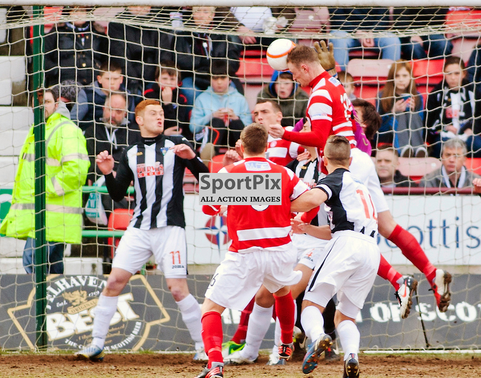 Dunfermline Athletic v Hamilton Irn Bru First Division East End Park 06 April 2013..John McShane scores..(c) Craig Brown | StockPix.eu