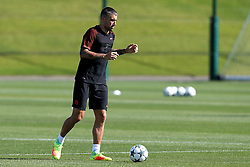 Aleksandar Kolarov of Manchester City warms up - Mandatory by-line: Matt McNulty/JMP - 23/08/2016 - FOOTBALL - Manchester City - Training session ahead of Champions League qualifier against Steaua Bucharest