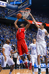 Georgia forward Yante Maten, scores in the first half.<br /> <br /> The University of Kentucky hosted the University of Georgia, Tuesday, Feb. 09, 2016 at Rupp Arena in Lexington .