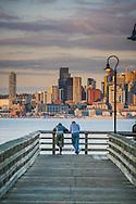Skyline from West Seattle, Alki, Seacrest Ferry, Seattle, Washington