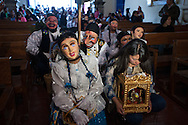 """Feast of """"Mamacha of Carmen"""" Paucartambo.The day before the feast the extras make their official entry into the village and go to greet the Lady."""