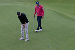 November 15, 2018 - Sydney, NSW, U.S. - SYDNEY, AUSTRALIA - NOVEMBER 15: Cameron Davis (AUS) putts as Matt Kuchar (USA) watches on at Day 1 of The Emirates Australian Open Golf on November 15, 2019, at The Lakes Golf Club in Sydney, Australia. (Photo by Speed Media/Icon Sportswire) (Credit Image: © Speed Media/Icon SMI via ZUMA Press)