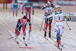 26.11.2016, Nordic Arena, Ruka, FIN, FIS Weltcup Langlauf, Nordic Opening, Kuusamo, Damen, im Bild Maiken Caspersen Falla (NOR), Stina Nilsson (SWE), Heidi Weng (NOR) // Maiken Caspersen Falla (NOR), Stina Nilsson (SWE) and Heidi Weng (NOR) during the Ladies FIS Cross Country World Cup of the Nordic Opening at the Nordic Arena in Ruka, Finland on 2016/11/26. EXPA Pictures © 2016, PhotoCredit: EXPA/ JFK