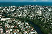 Belize City<br /> Aerial view<br /> Belize,<br /> Central America