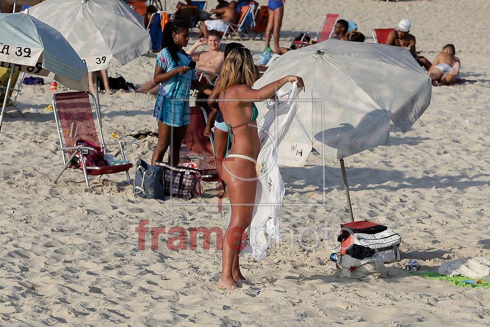 Movimentação na praia de Ipanema, zona sul da cidade nesta terça-feira(04/11). Foto: Rudy Trindade/Frame
