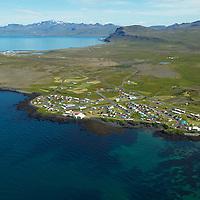 Hellissandur og Rif séð til austurs, Snæfellsbær / Hellissandur and Rif viewing east, Snaefellsbaer