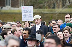 © Licensed to London News Pictures. 07/03/2014. Westminster, London, UK. Crowds of protesters gather at Old Palace Yard in Westminster to hear speeches made by Save UK Justice campaigners against government-proposed legal aid cuts. Photo credit : David Tett/LNP