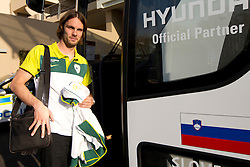 Marko Suler of Slovenia at departure of Slovenia National team from Southern Sun Hyde Park Hotel to airport for flight home after the last 2010 FIFA World Cup South Africa Group C  match between Slovenia and England on June 25, 2010 at Southern Sun Hyde Park Hotel, Johannesburg, South Africa. (Photo by Vid Ponikvar / Sportida)