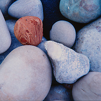 River rock background.