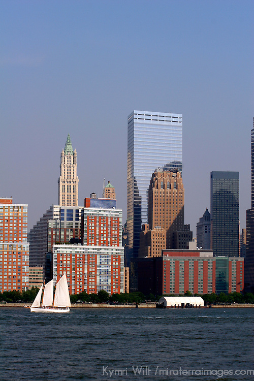 USA, New York, New York City. Scenic sightseeing cruise around Manhattan Island.