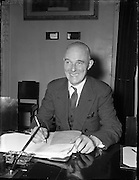07/01/1954<br /> 01/07/1945<br /> 07 January 1954  <br /> <br /> <br /> Professor John Busteed (Cork University) Chairman at Labour Unity Talks<br /> <br /> John Busteed (1895–1964), economist, was born 30 June 1895 at Mayfield, a suburb of Cork city, son of John Busteed, ship's steward, and Mary Busteed (née Hickey). Educated at the North Monastery School, Cork, he was the first recipient of the Honan scholarship to UCC (1913) In failing health for about a year, he died 9 August 1964 at the Bons Secours nursing home. He and his wife Mary had three sons and two daughters and lived at Ceann Mara, Blackrock Road, Cork.