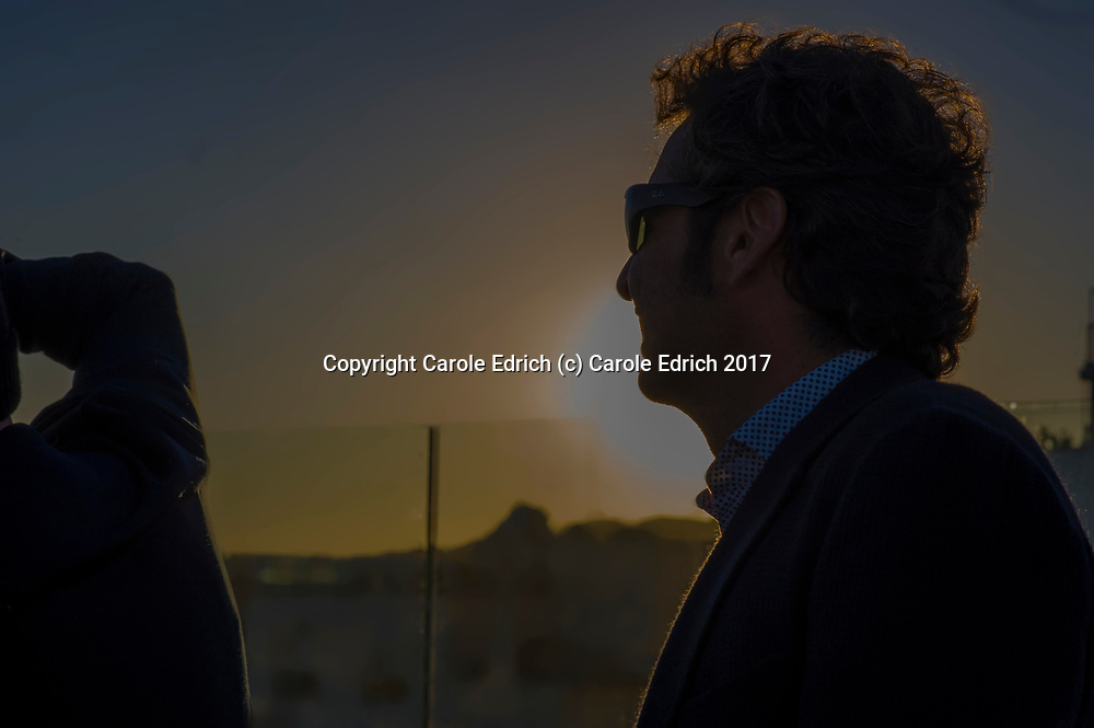 Sunset portrait on the roof of Nakar Hotel. (c) Carole Edrich 2017
