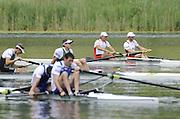 Lucerne, SWITZERLAND. A Final,  CAN M2-, Bow, Dave CALDER and Scott FRANDSEN, gold medalist men's pair  at the  2008 FISA World Cup Regatta, Round 2.  Lake Rotsee, on Sunday, 01/06/2008.   [Mandatory Credit:  Peter Spurrier/Intersport Images].Lucerne International Regatta. Rowing Course, Lake Rottsee, Lucerne, SWITZERLAND.